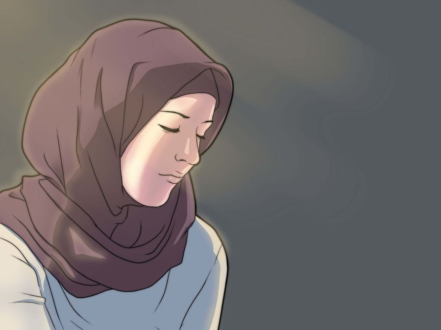 77 Gambar Kartun Sedih Berhijab Terbaik