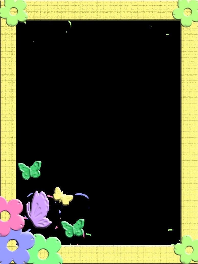 Green Board Background Clipart Child Flower Border Transparent Clip Art