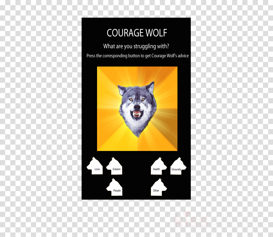 courage wolf template clipart Canidae Dog Poster