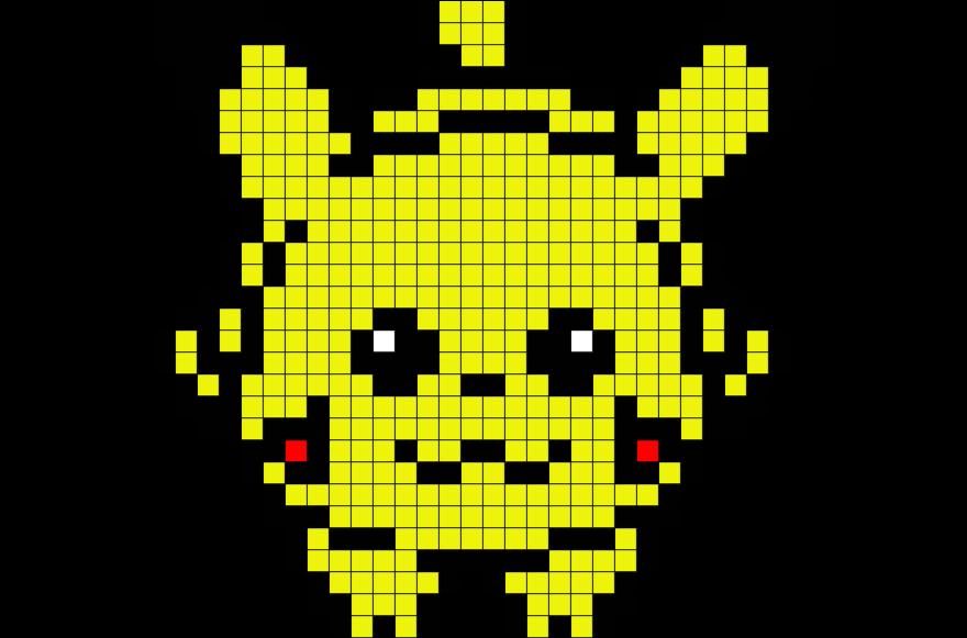 Pikachu Minecraft Pixel Art