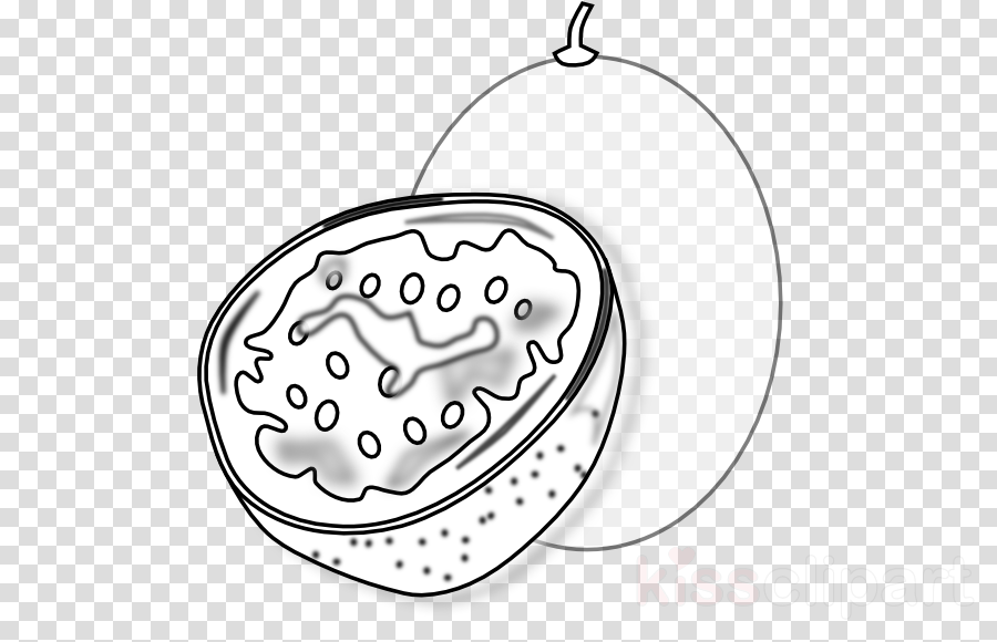 passion fruit colouring page clipart Passion Fruit Coloring book Clip art