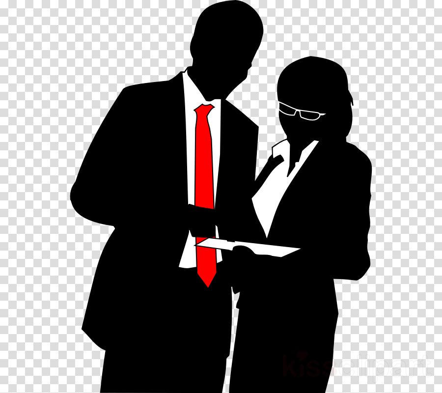 business woman and man silhouette clipart Businessperson Clip art