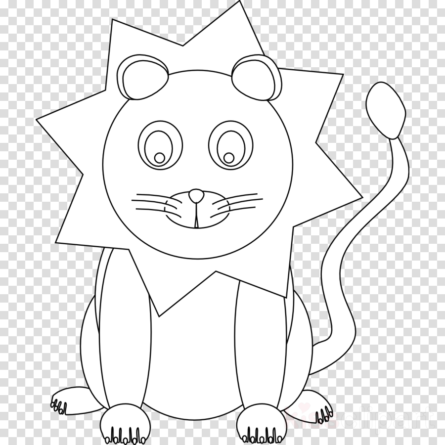 Coloring book clipart Lion Coloring book