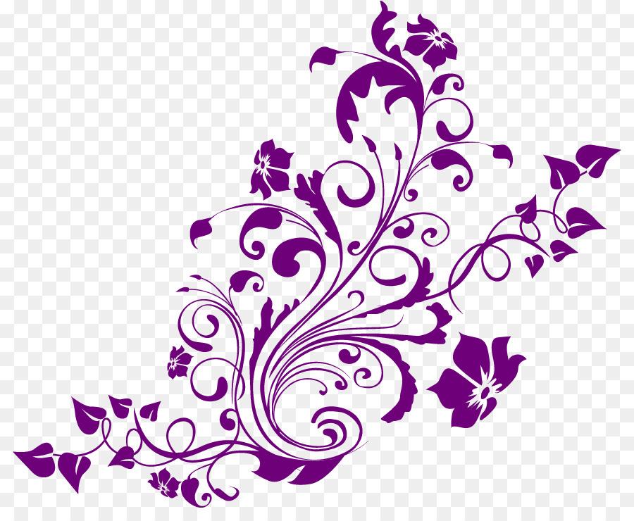 Purple Watercolor Flower Clipart Flower Leaf Transparent