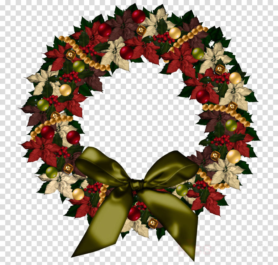 Wreath Leaf Christmas Transparent Png Image Clipart Free Download