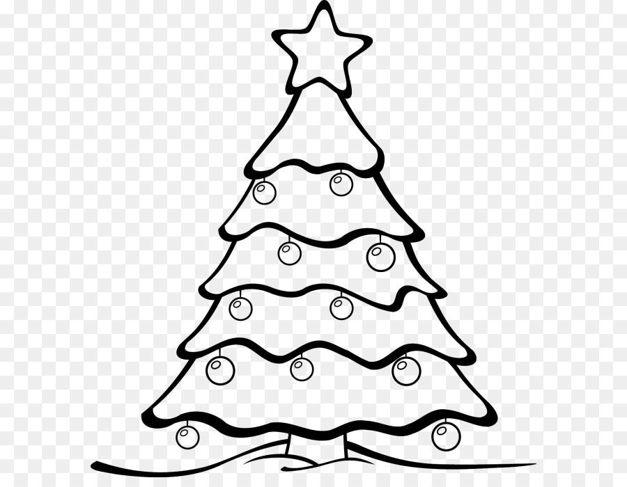 Christmas Tree Line Drawing Clipart Tree Christmas