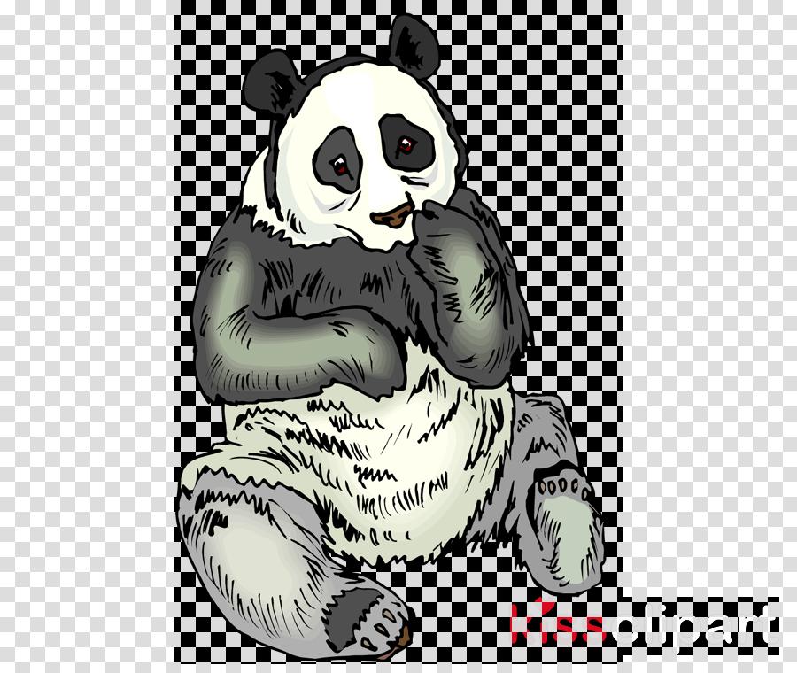 Giant panda clipart Cat Whiskers Giant panda