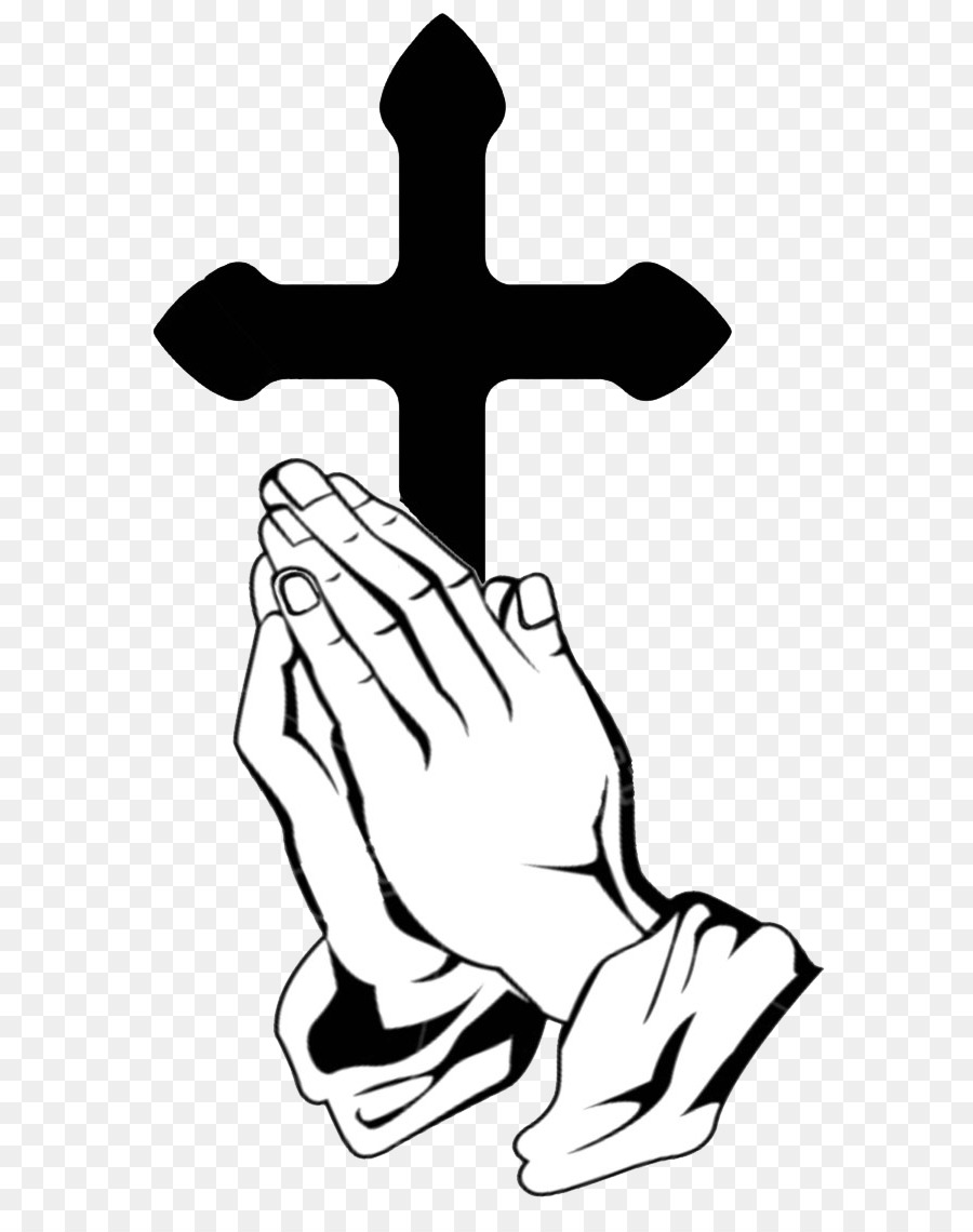 Download Praying Hands With Cross Png Clipart Praying Hands Prayer