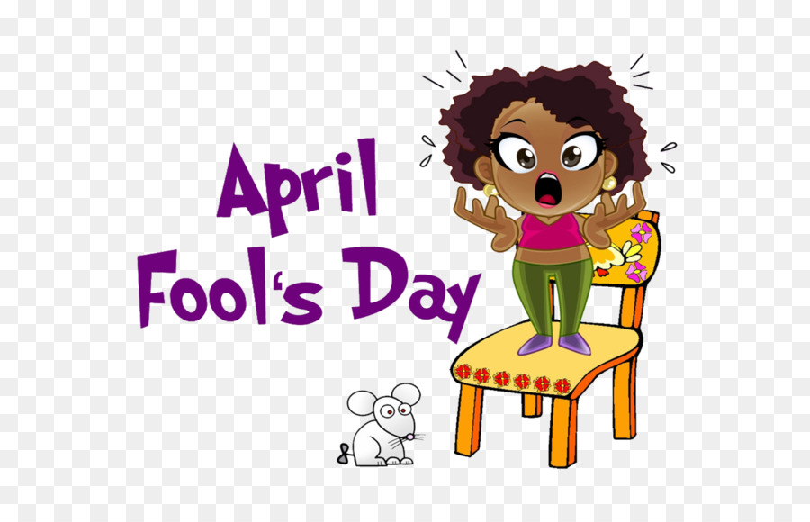 April school. Fools day clipart illustration