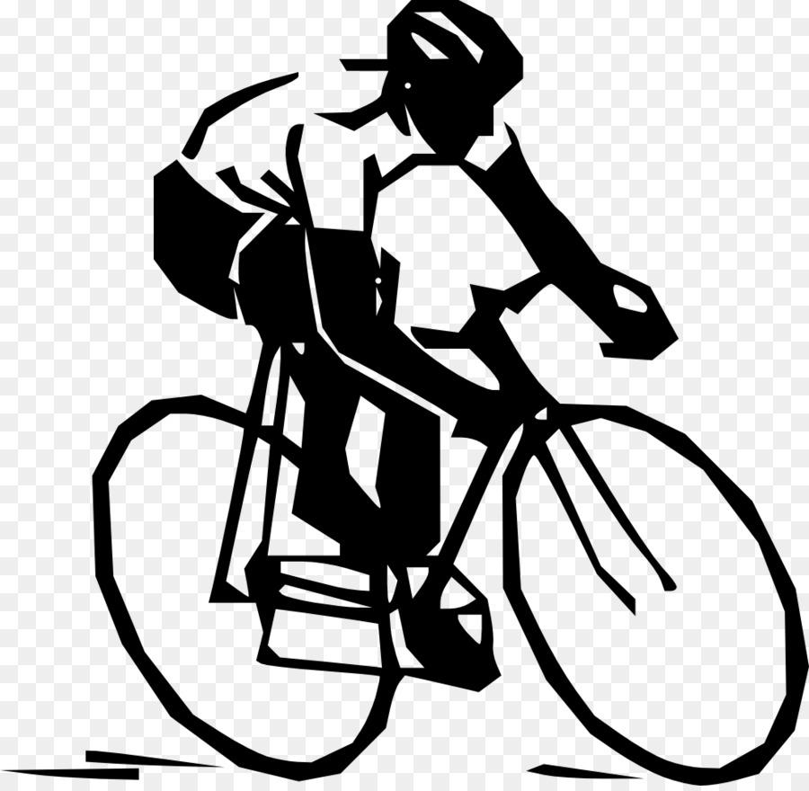 Black And White Frame Clipart Bicycle Cycling Racing Transparent Clip Art