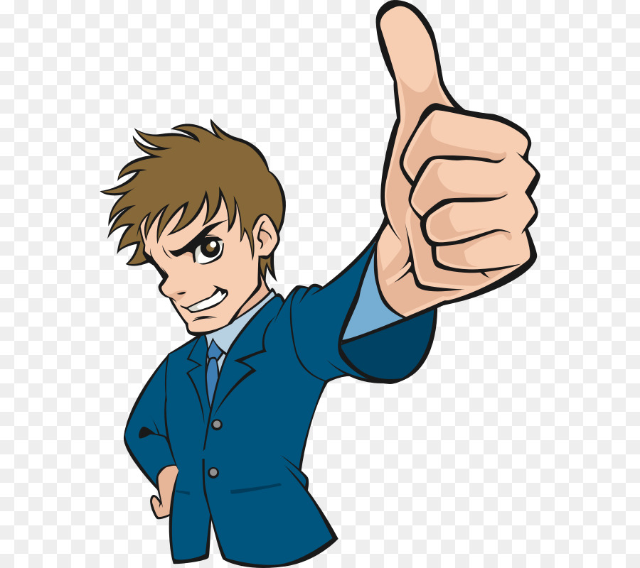Thumbs up boy. Cartoon clipart illustration man