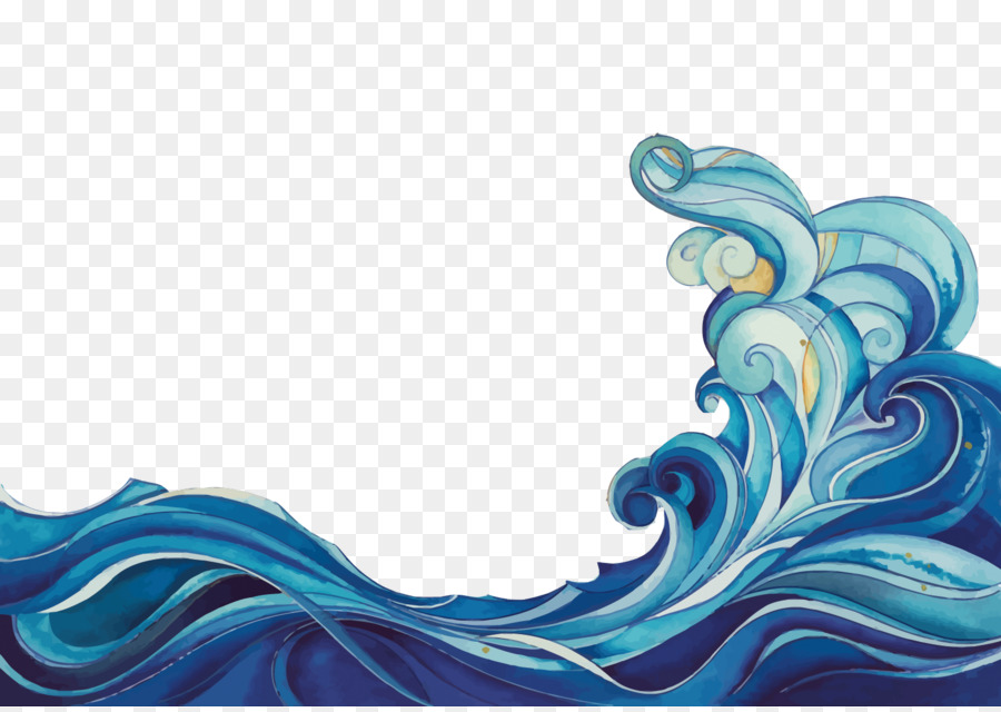 Waves drawing. Mermaid clipart wave cartoon