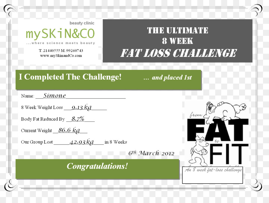 Download Certificate Of Participation Weight Loss Challenge Clipart