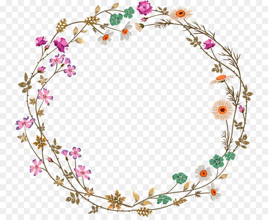 Floral Flower Background Clipart Flower Line Circle