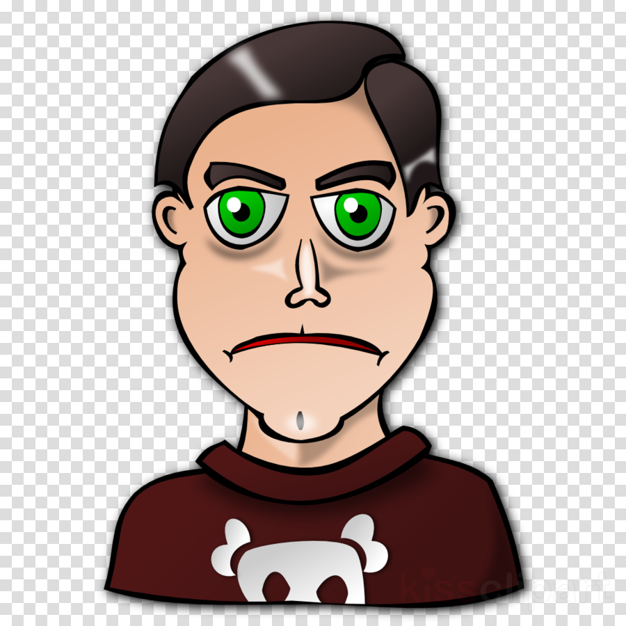 man with green eyes clipart Clip art