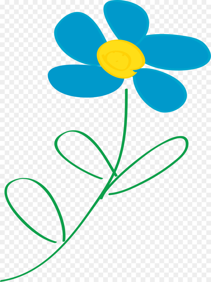 Blue Flowers Clip Art Border Flowers Healthy