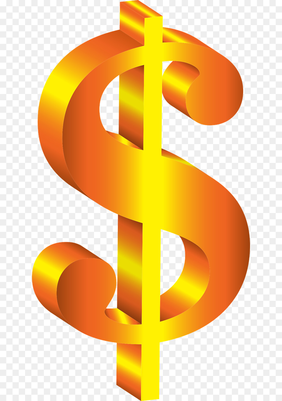Dollar sign us. Clipart text orange font