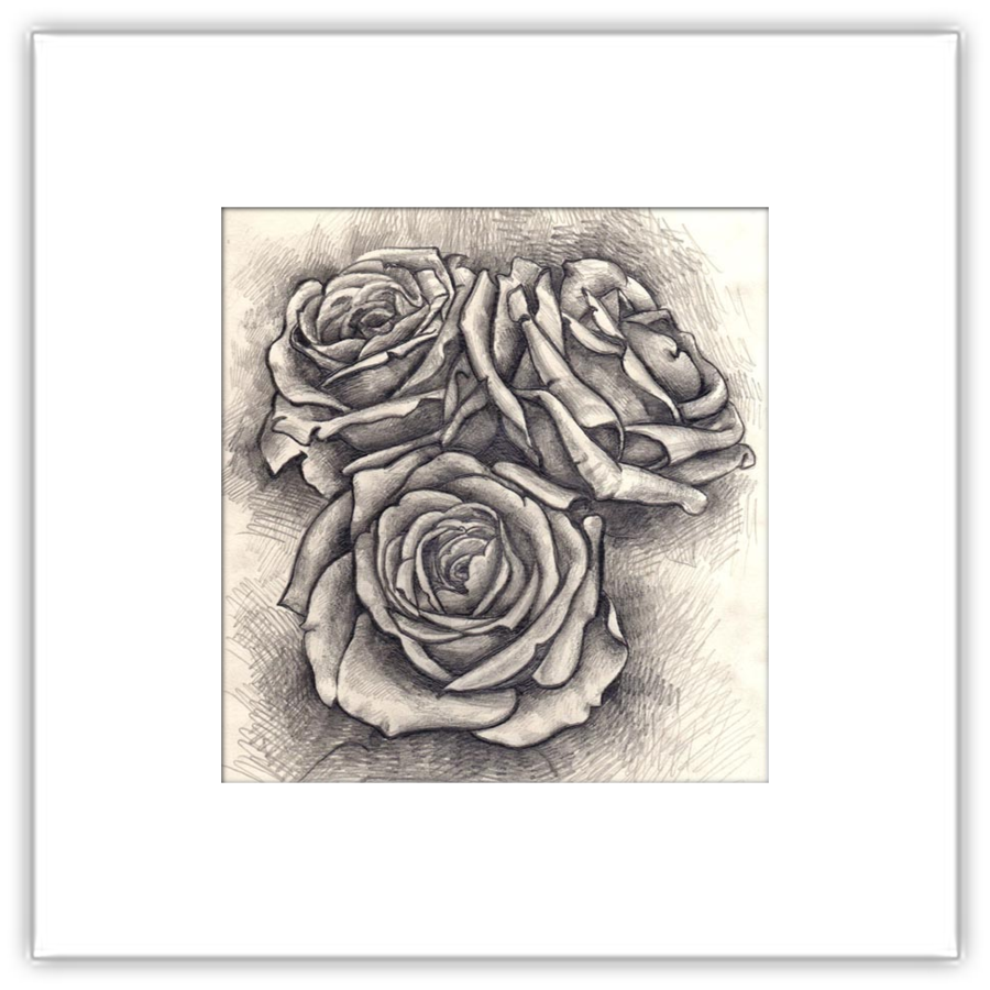 Black And White Flower Clipart Tattoo Sketch Flower Transparent Clip Art