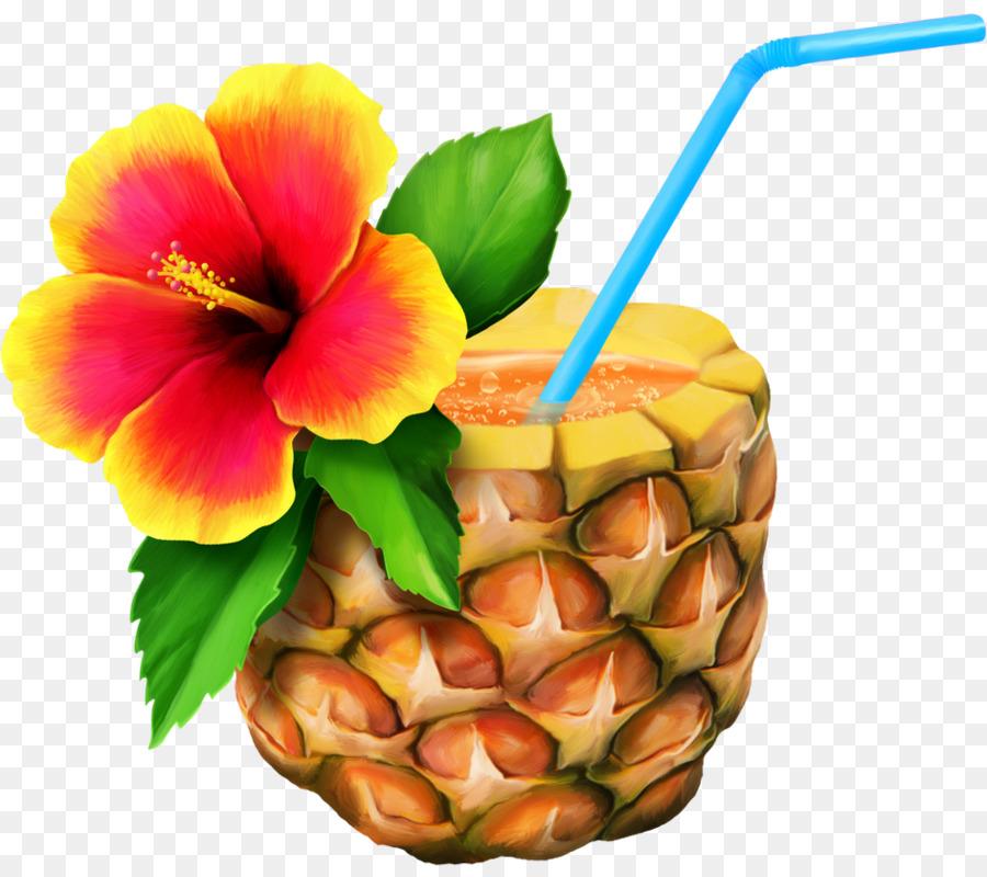 Pineapple hawaiian. Pizza clipart luau food