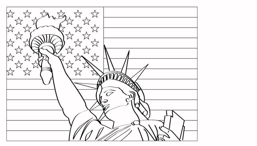 Statue Of Liberty Coloring Page Clipart Colouring Pages Book
