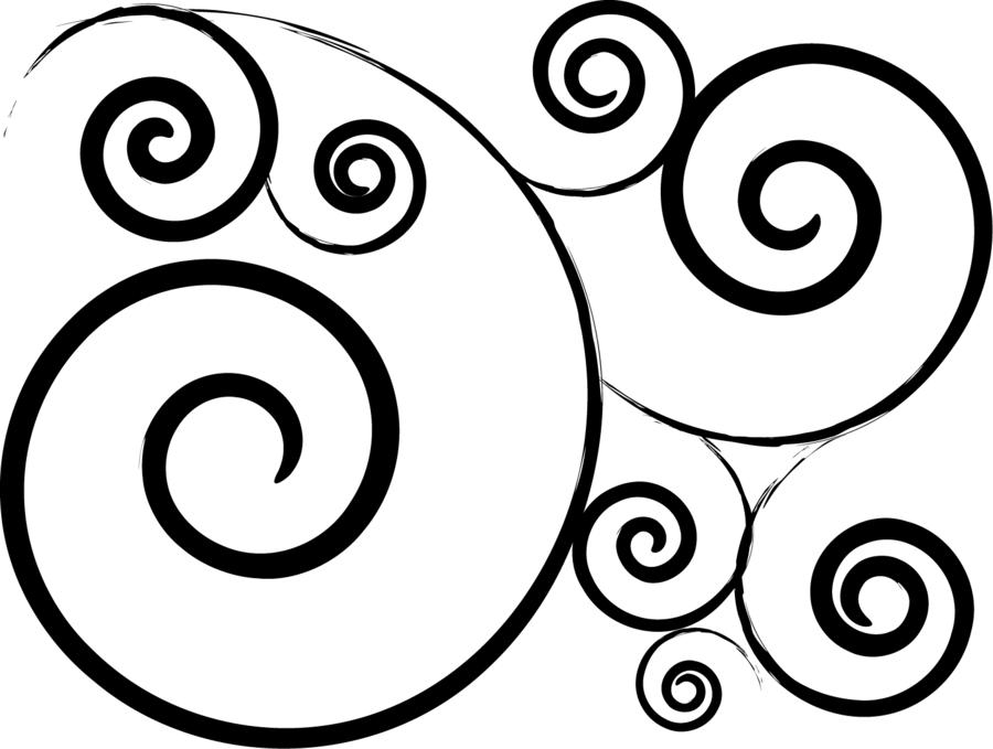 simple swirl clipart - HD1500×1131