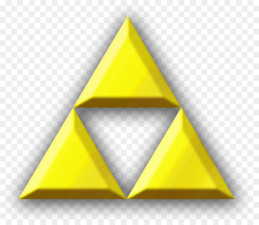 Triforce triangular logos. Triangle background clipart yellow