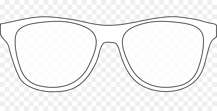 Sunglasses outline. Clipart glasses white transparent