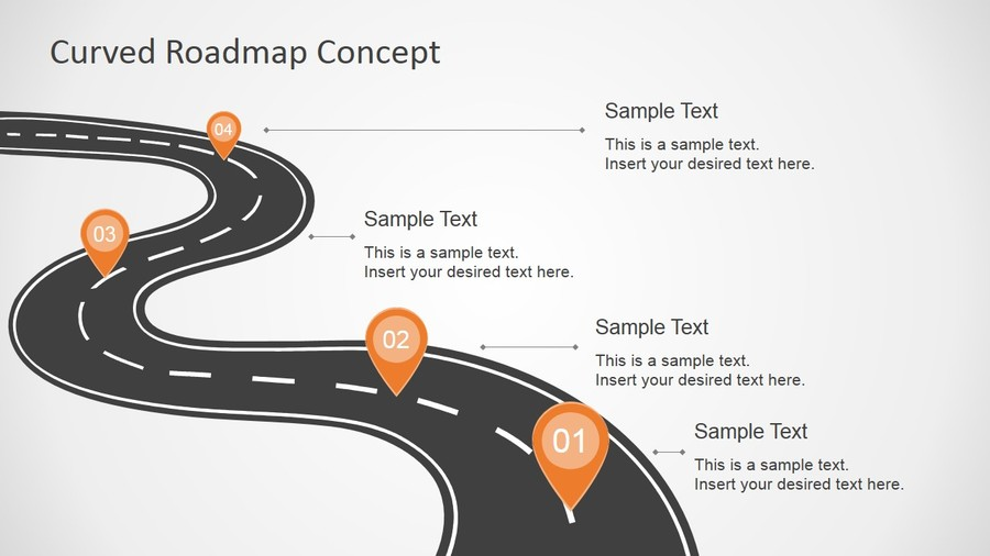 Download Powerpoint Road Map Ppt Template Free Clipart Technology Roadmap Microsoft PowerPoint Business Plan Product Presentation