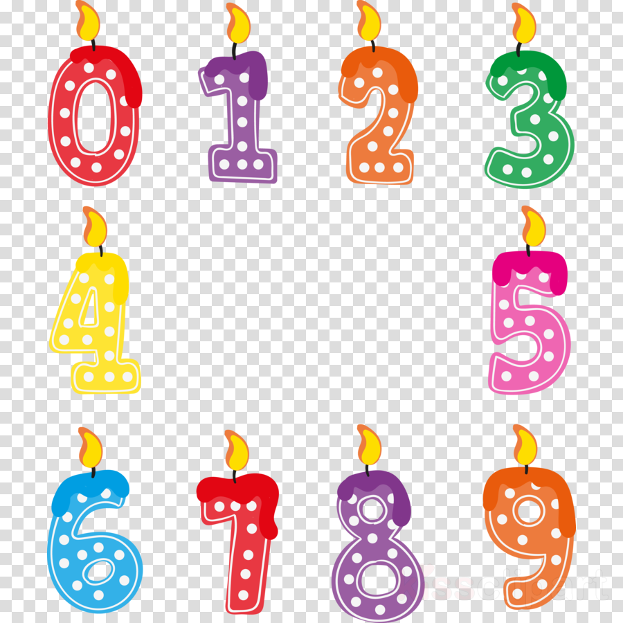 number candle clipart Birthday Candles Clip art
