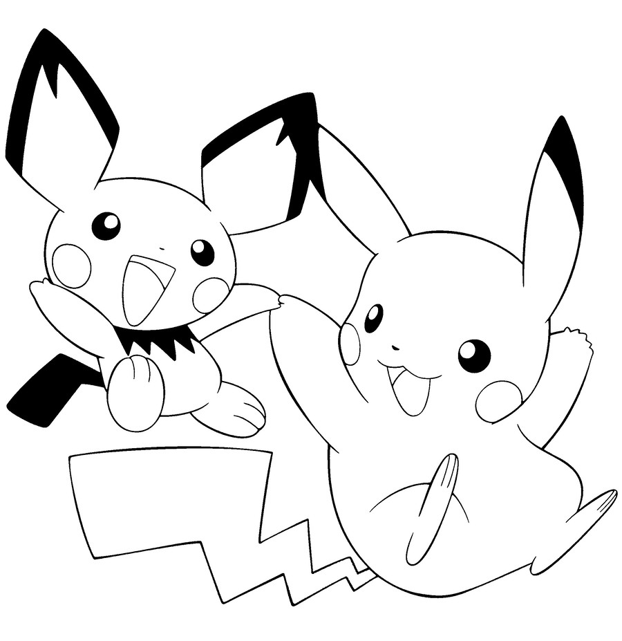 Pikachu coloring pages clipart pikachu colouring pages pokémon go