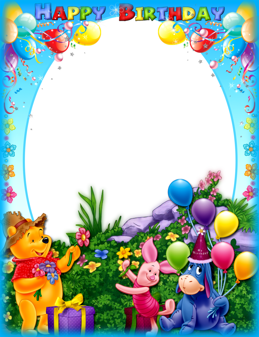 Download Happy Birth Day Frame Psd Clipart Picture Frames Birthday