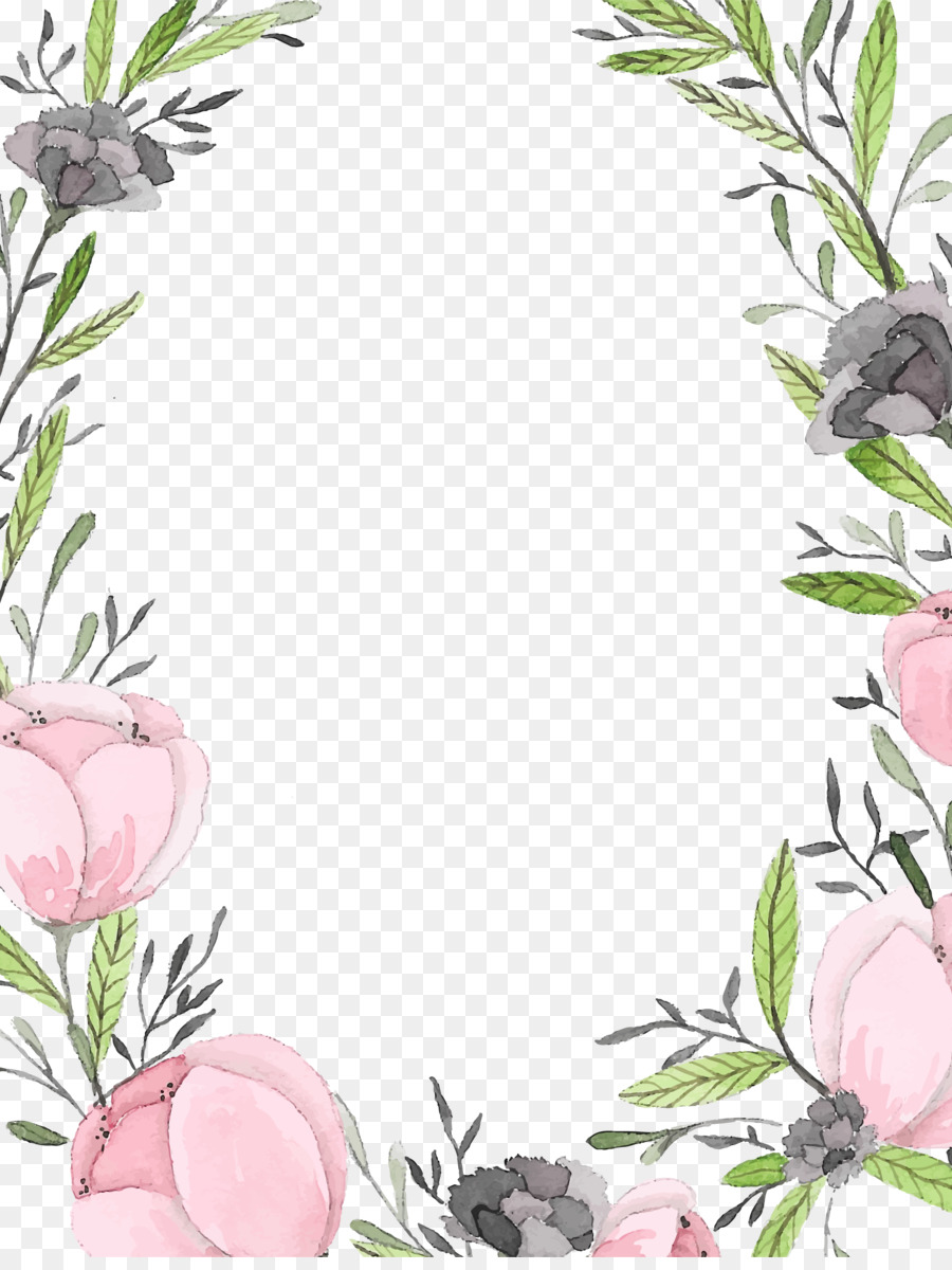 Floral Wedding Invitation Background Clipart Paper Wedding Design Transparent Clip Art