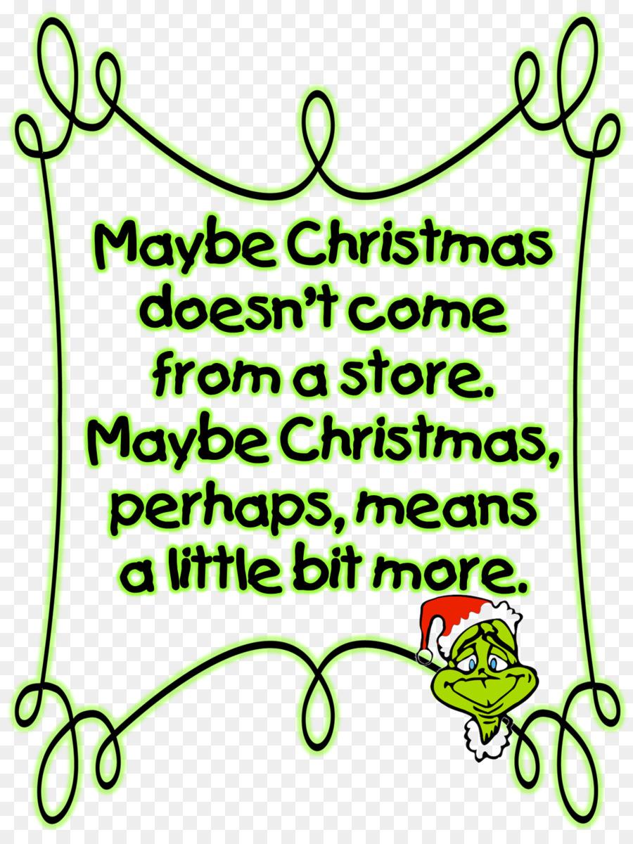 The Grinch Christmas Tree Clipart Text Leaf Font Transparent Clip Art
