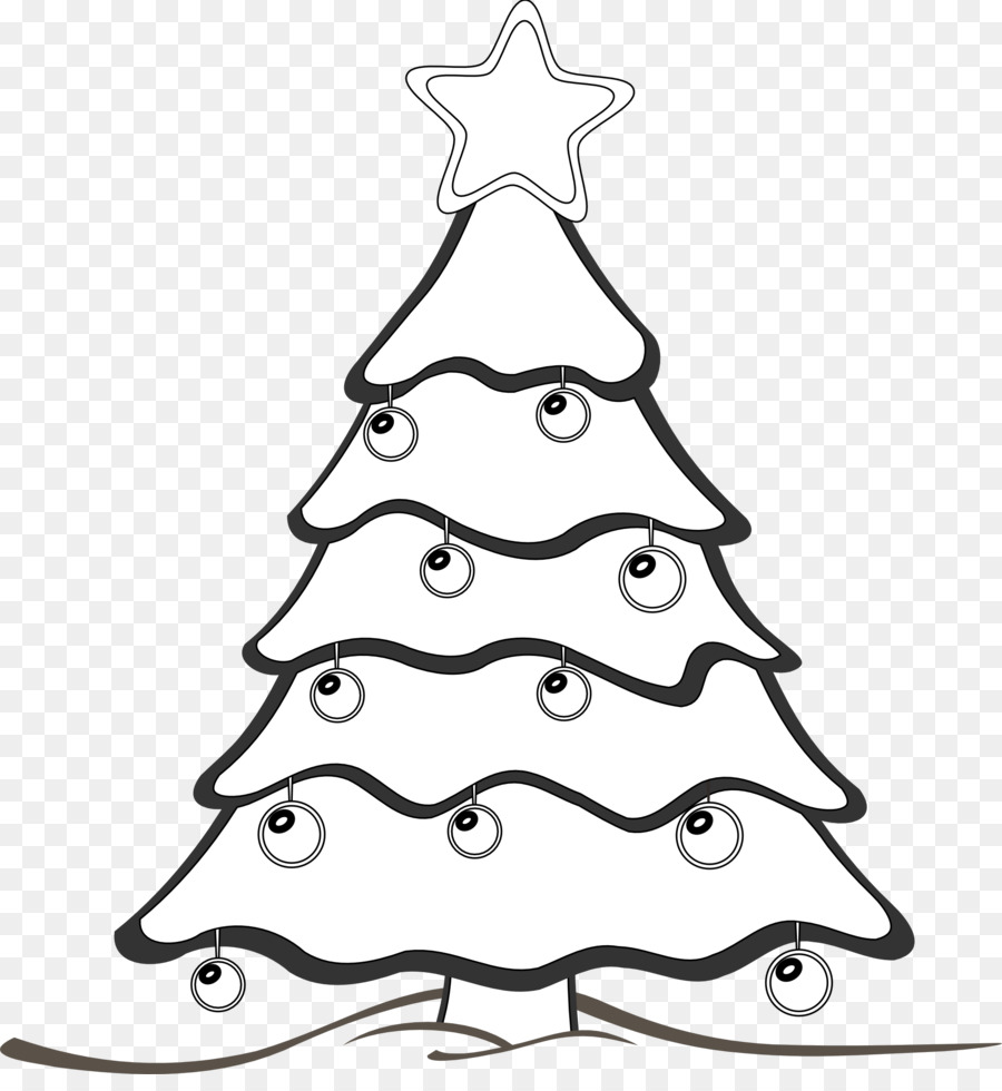 Christmas Tree Line Drawing Clipart Drawing Tree White Transparent Clip Art