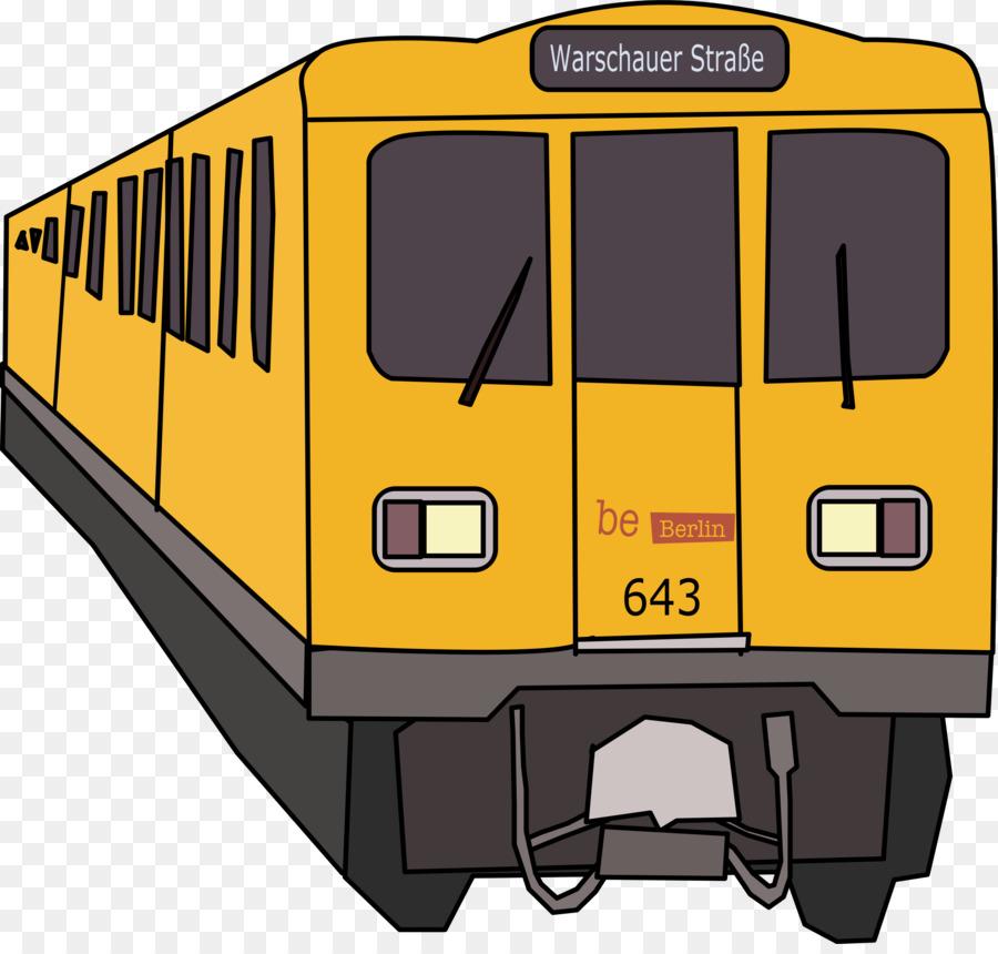 u bahn berlin clipart Rapid transit Rail transport Train