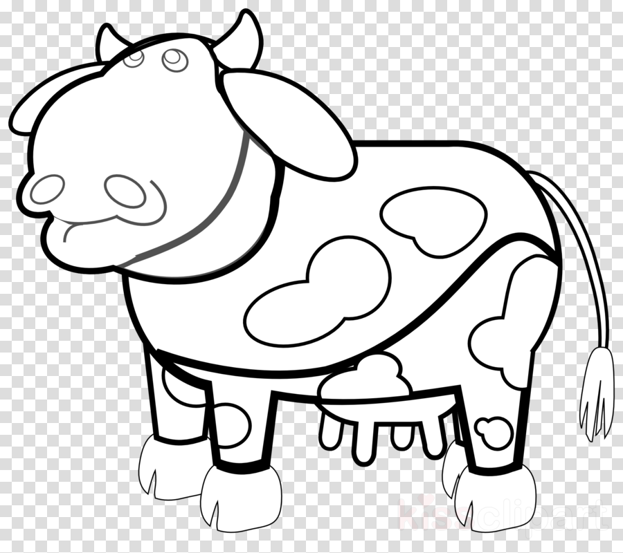 cow outline cartoon png clipart Beef cattle Guernsey cattle Angus cattle