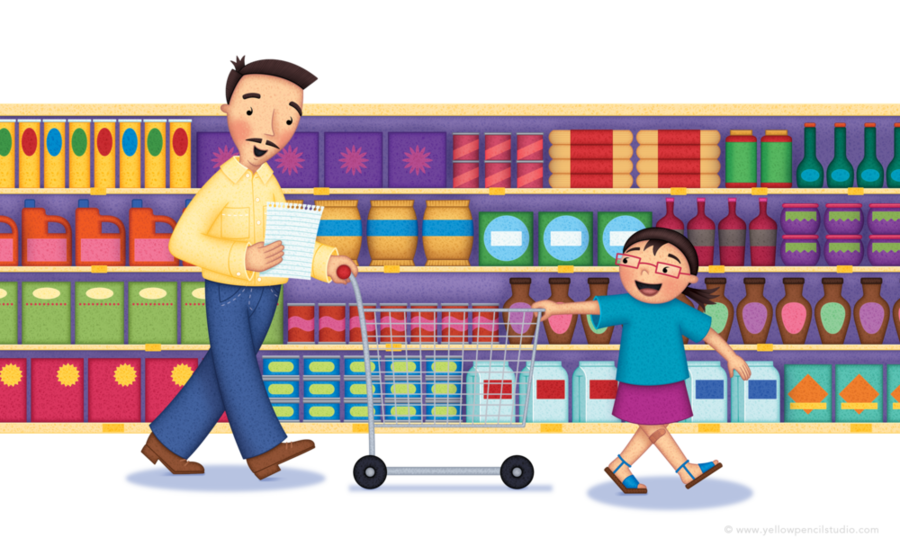 Playground Cartoon Clipart Shopping Supermarket Food Transparent Clip Art