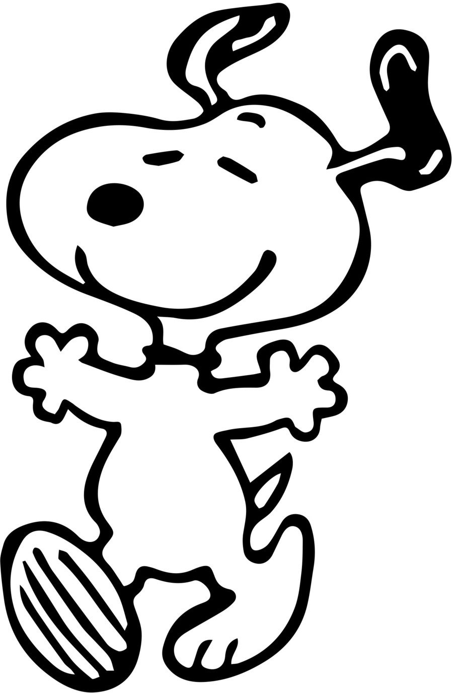 Download snoopy coloring pages clipart Snoopy Woodstock Charlie ...