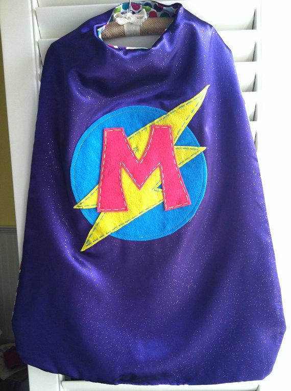 Applesaucellc Purple Superhero Cape Personalize Customize