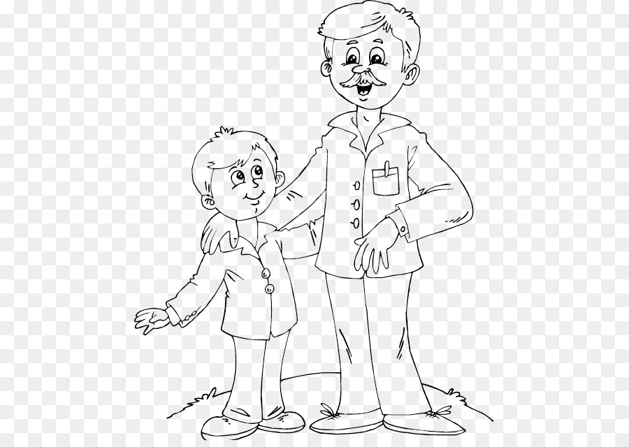 father and son for coloring clipart Father Coloring book Child
