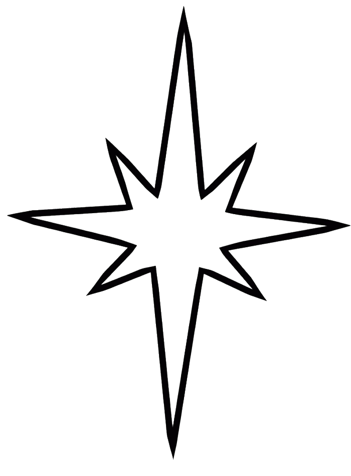 Christmas Clip Art North Star.Book Black And White Clipart Child Leaf Star