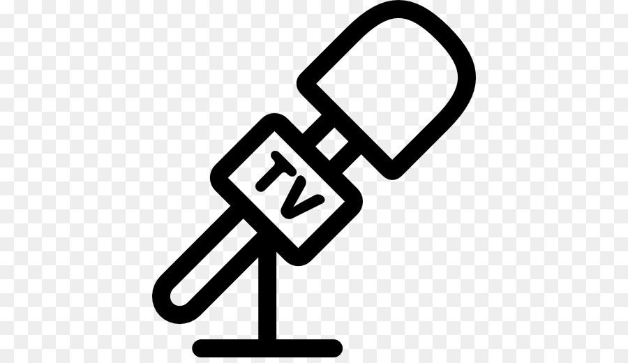 Microphone news. Cartoon clipart television text