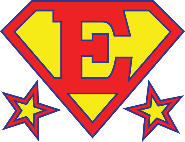 picture regarding Superhero Letters Printable identified as Clipart remedy 640*492 - superman letters printable no cost