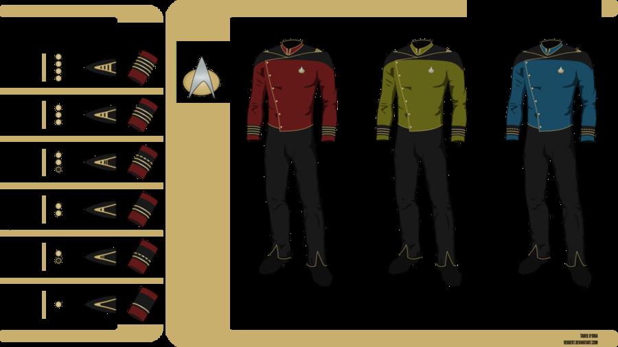 star trek uniform colors