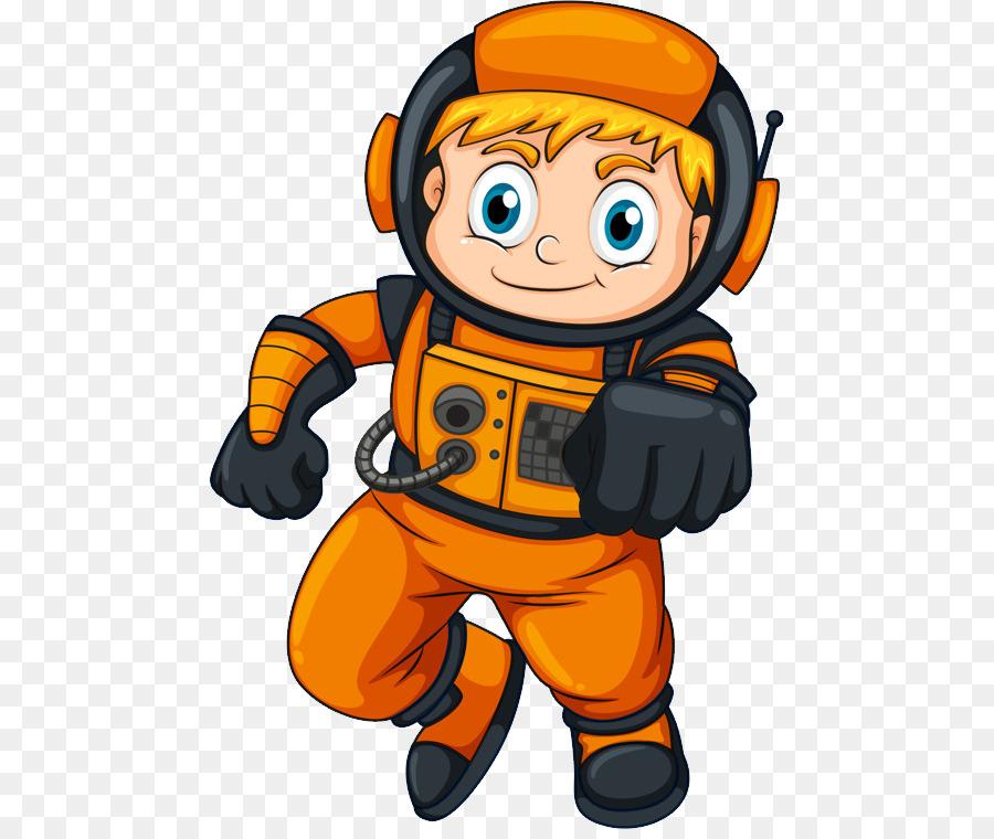 Galaxy astronaut. Cartoon clipart graphics
