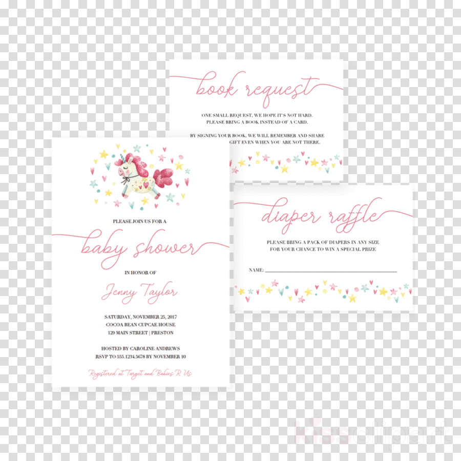 Unicorn clipart Wedding invitation Unicorn Baby shower