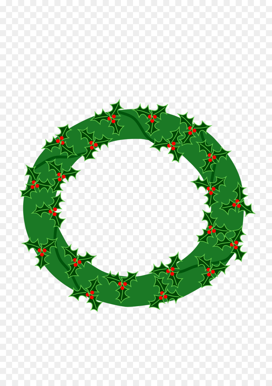 Christmas wreath circle. Leaf transparent png image