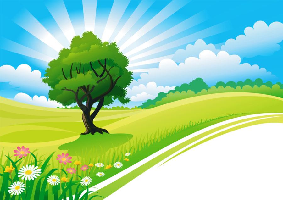 Drawing Of Family Clipart Nature Landscape Green Transparent Clip Art