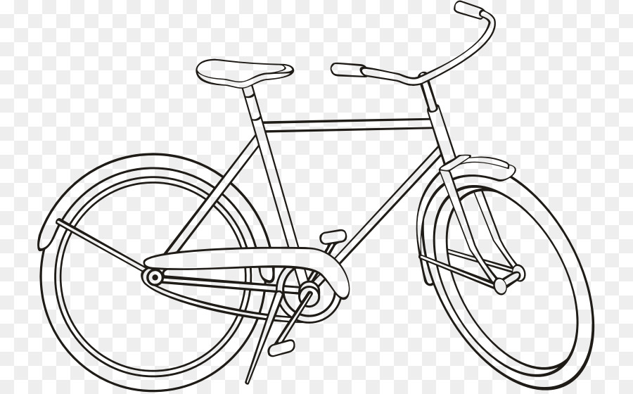 Black And White Frame Clipart Bicycle Cycling Drawing Transparent Clip Art