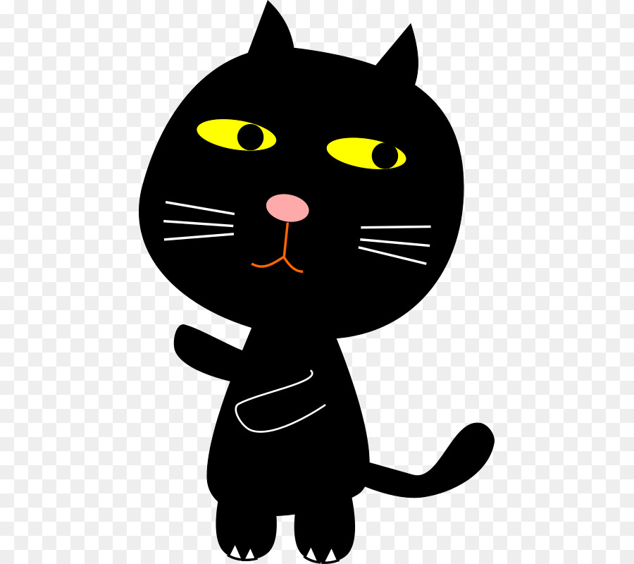 Cat clipart Whiskers Black cat Domestic short-haired cat